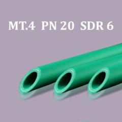 Pipe in bars PP-R/Aluminum MT. 4 PN 20 SDR 6